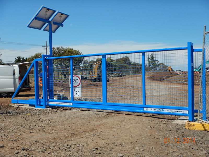 Solar powered cantilever sliding gate project for Gray Bruni