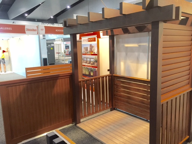 Aluminium Timber Look Home Show Exhibit
