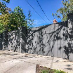 4- 100x16 aluminium vertical slats 10mm gap