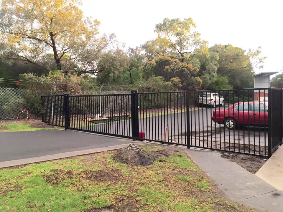 Automated Sliding Gate Cranbourne   Ambulance Victoria   Sidcon Fabrications